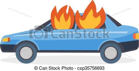 Destruction clipart car crash Car all emergency car Burning