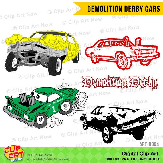 Destruction clipart car crash Set digital ClipArtNow Digital by