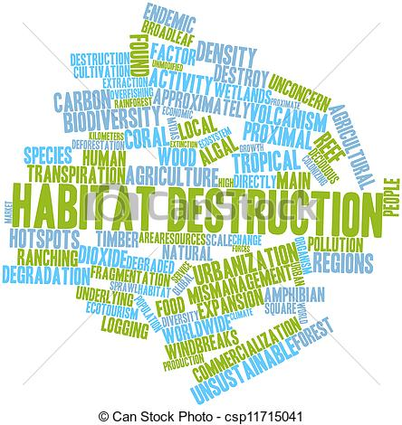 Destruction clipart habitat destruction Destruction for word Drawing csp11715041