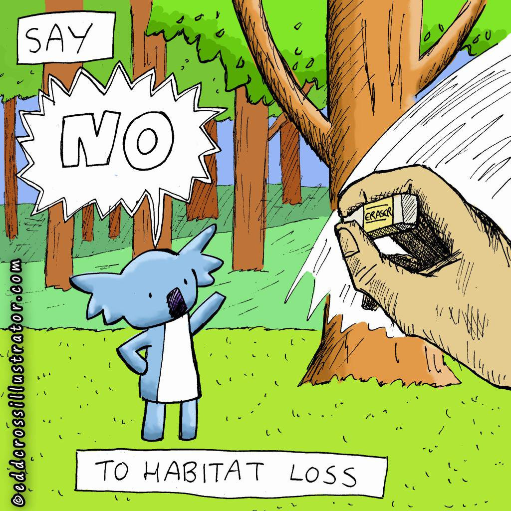 Destruction clipart habitat destruction Jpg:large no EddCross_Art: Cartoon Nepali