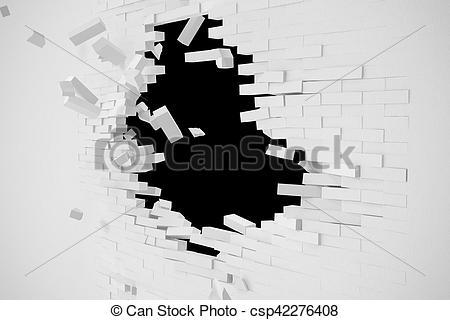 Destruction clipart wall #7