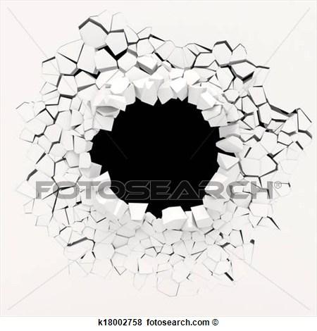 Destruction clipart wall #2