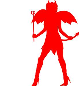 Pitchfork clipart tail Devil Download Lady Lady Clipart