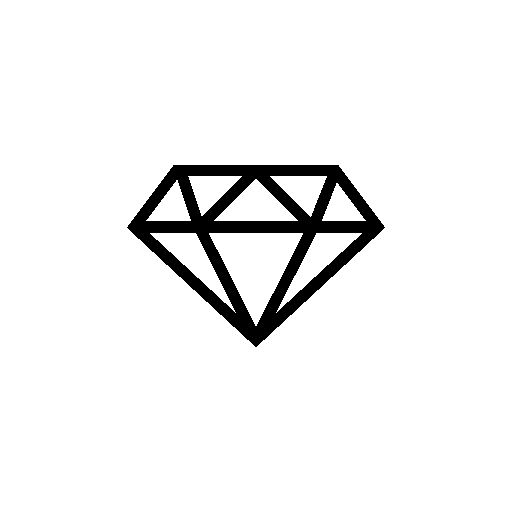 Gems clipart diamond outline #7