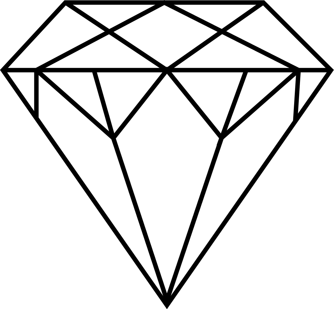 Gems clipart diamond outline #5