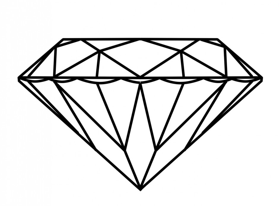 Gems clipart diamond outline #4