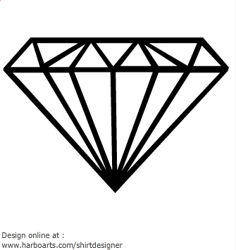 Diamond clipart retro Clipart diamond outline art Free