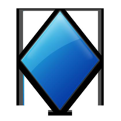 Crystal clipart diamond shape Clip Blue shape clip art