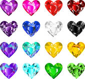 Diamond clipart colorful Clip Free diamonds heart Royalty