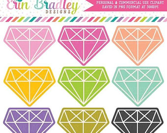 Diamond clipart colorful Clipart  art OFF Digital