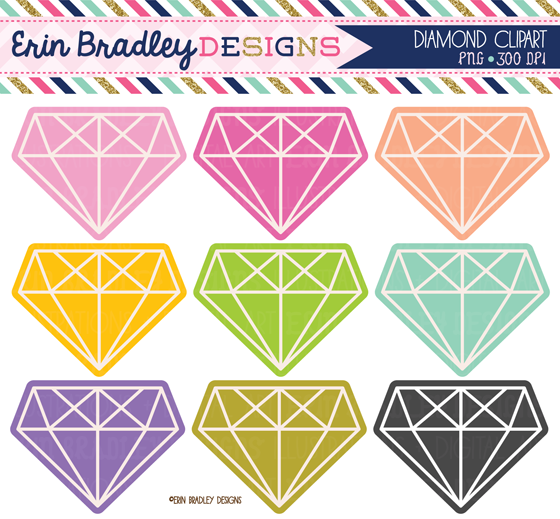 Diamond clipart colorful Clipart Designs: the Erin Available