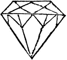Diamond clipart coloring page Yahoo Cuts for Result Image
