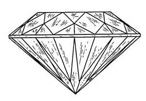 Diamond clipart coloring page Diamond  diamond white and