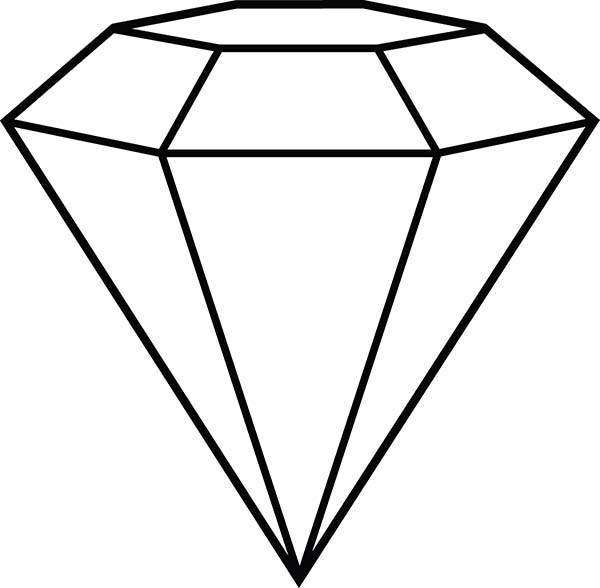 Diamond clipart coloring page Page Coloring Coloring Shape Download