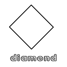 Diamond clipart coloring page Shapes Printable Simple of Pages