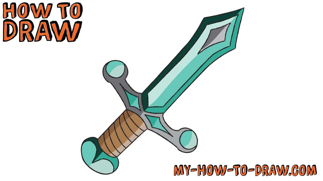 Diamond clipart easy Easy tutorial step to Sword