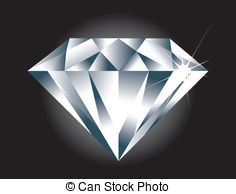 Diamond clipart easy  to BLACK separate Diamond
