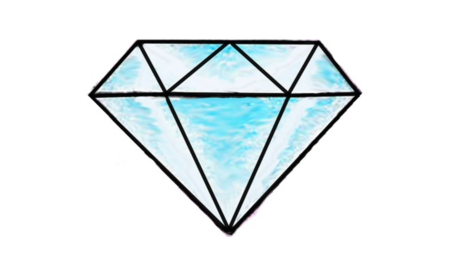 Diamond clipart easy (easy) to YouTube How Draw