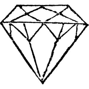 Diamond clipart line art 2 clip art art Diamond