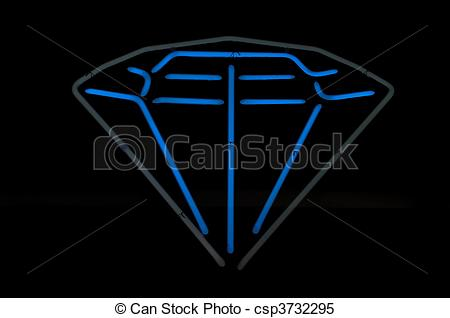 Diamond clipart neon And Blue Gray Gray Neon