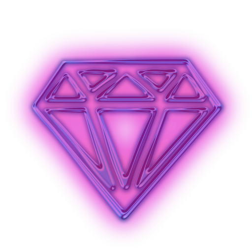 Diamond clipart neon 3 Cut Icon » Icon