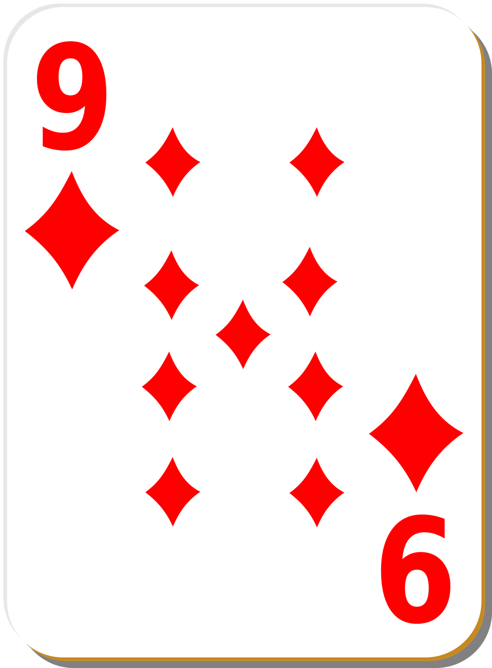 Diamond clipart playing card Of Photo Playing Nine Free