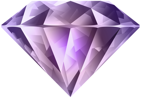 Crystals clipart diamond Diamond Gallery Purple Image Art