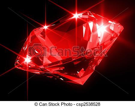 Diamond clipart red diamond Diamond rendered illustration  Illustration