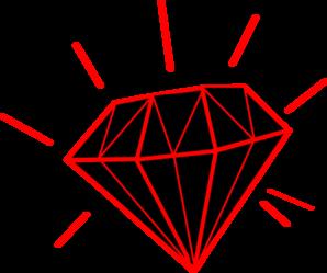 Diamond clipart red diamond Clip at Clker vector /