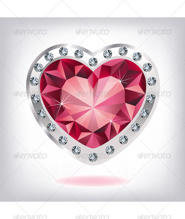 Diamond clipart ruby stone Jewelry heart jewels art diamonds