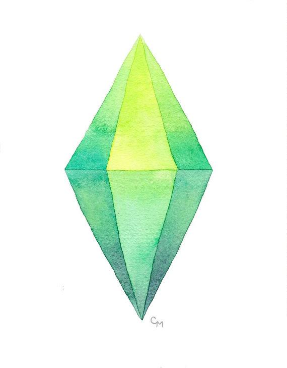 Diamond clipart sims Original Sim // Plumbob Of