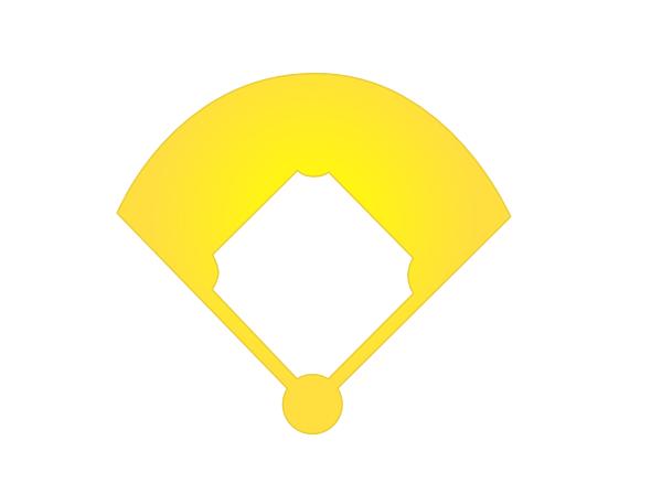 Diamond clipart objects Collection diamond field Baseball clipart