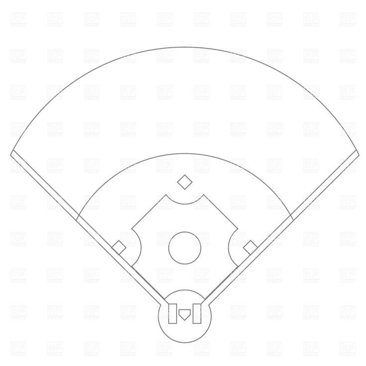 Diamond clipart softball diamond Art WikiClipArt Baseball baseball field