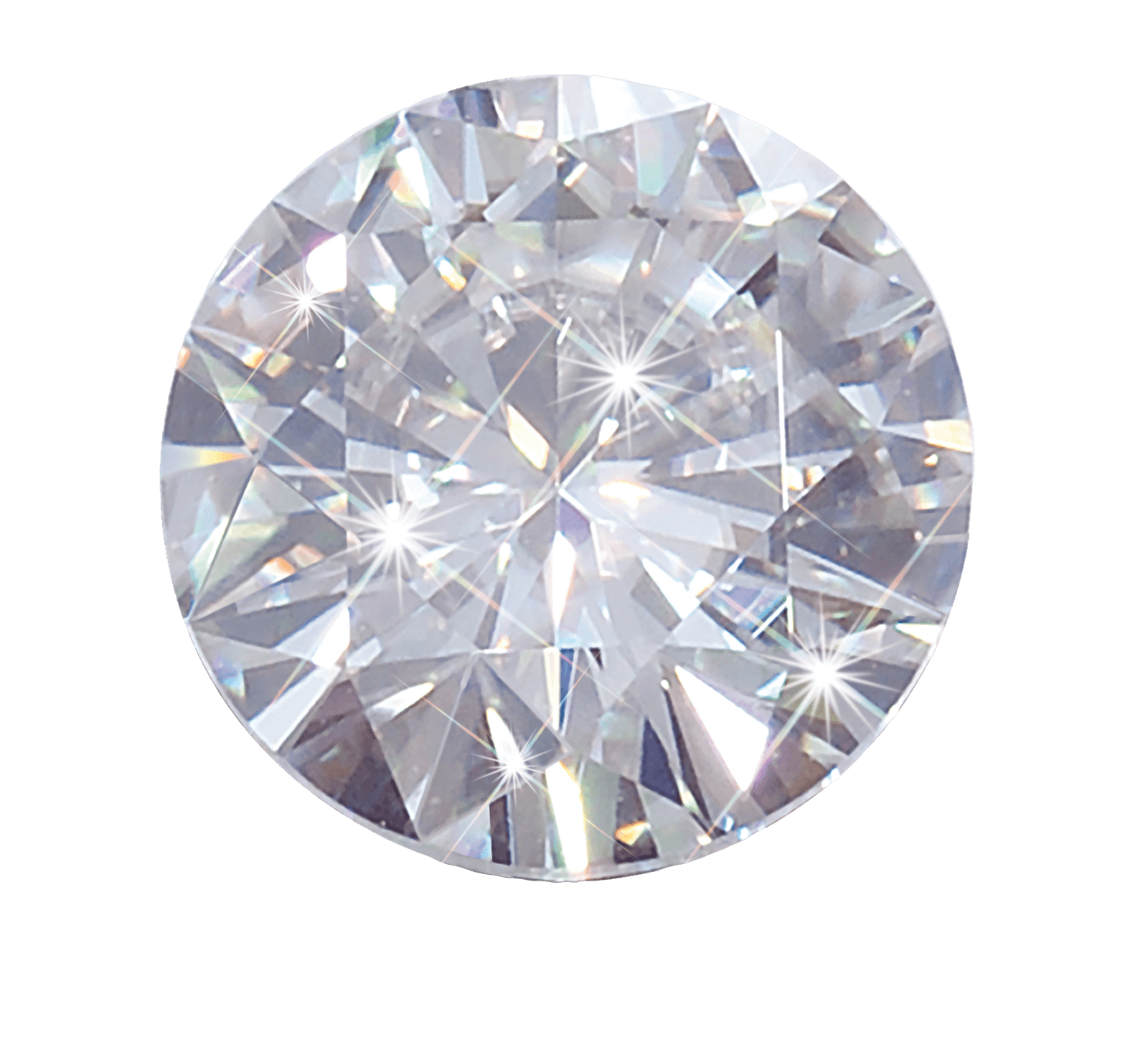 Crystal clipart white diamond PNG transparent Round Round White