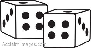 Dice clipart black and white Images Dice Art Dice And