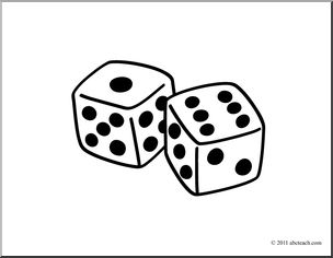 Dice clipart black and white Words: Clip Clip B&W Basic