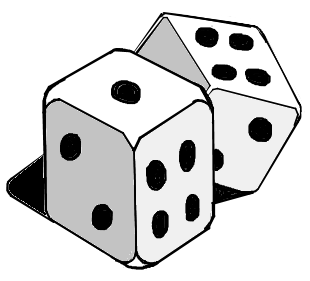 Dice clipart black and white White clip Belt 6 dice