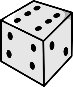 Dice clipart black and white  online Dice Art free