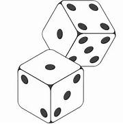 Dice clipart black and white Dice Art Clipart Wh And