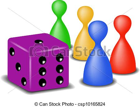 Dice clipart funny With game game Vectors Illustration