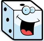 Dice clipart cute Csp4646999 cartoon and Drawings smiling