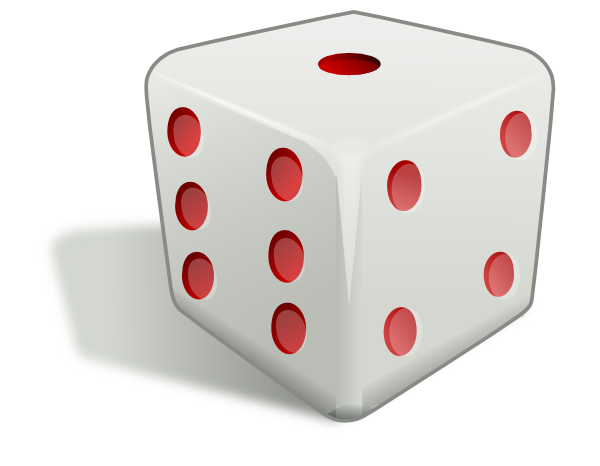 Dice clipart cute Clipartix free Dice use Free