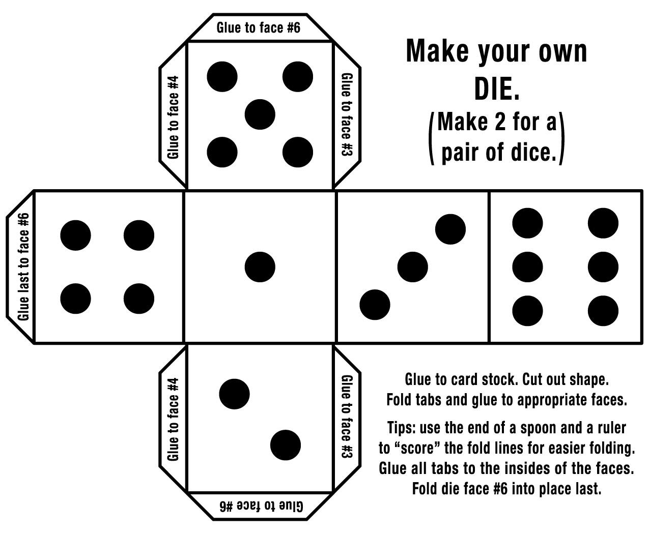 Dice clipart domino Clip B&W Make Color Dominos