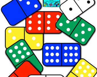 Dice clipart domino Wooden Domino DOMINO Clipart