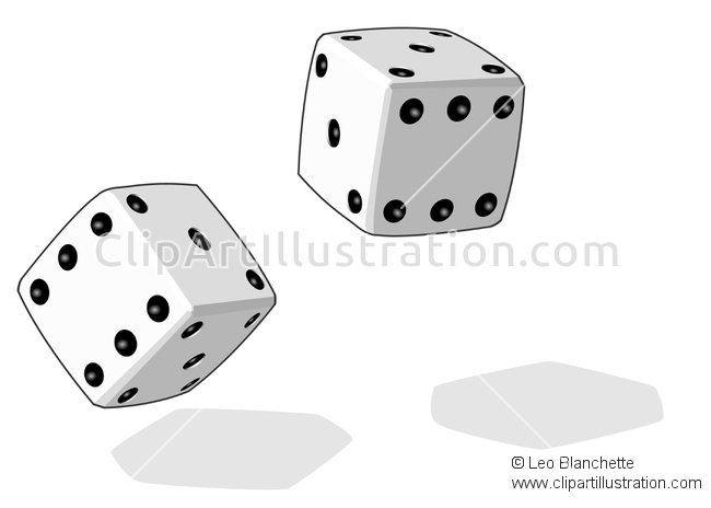 Dice clipart empty ClipArt of 3d Dice Dice