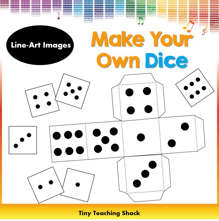 Dice clipart empty Own Make 44 Your template