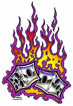 Dice clipart flames Flaming Clipart Tattoo Dice Panda