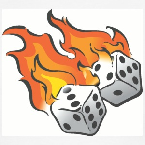 Dice clipart flames T Ringer Flame T Men's
