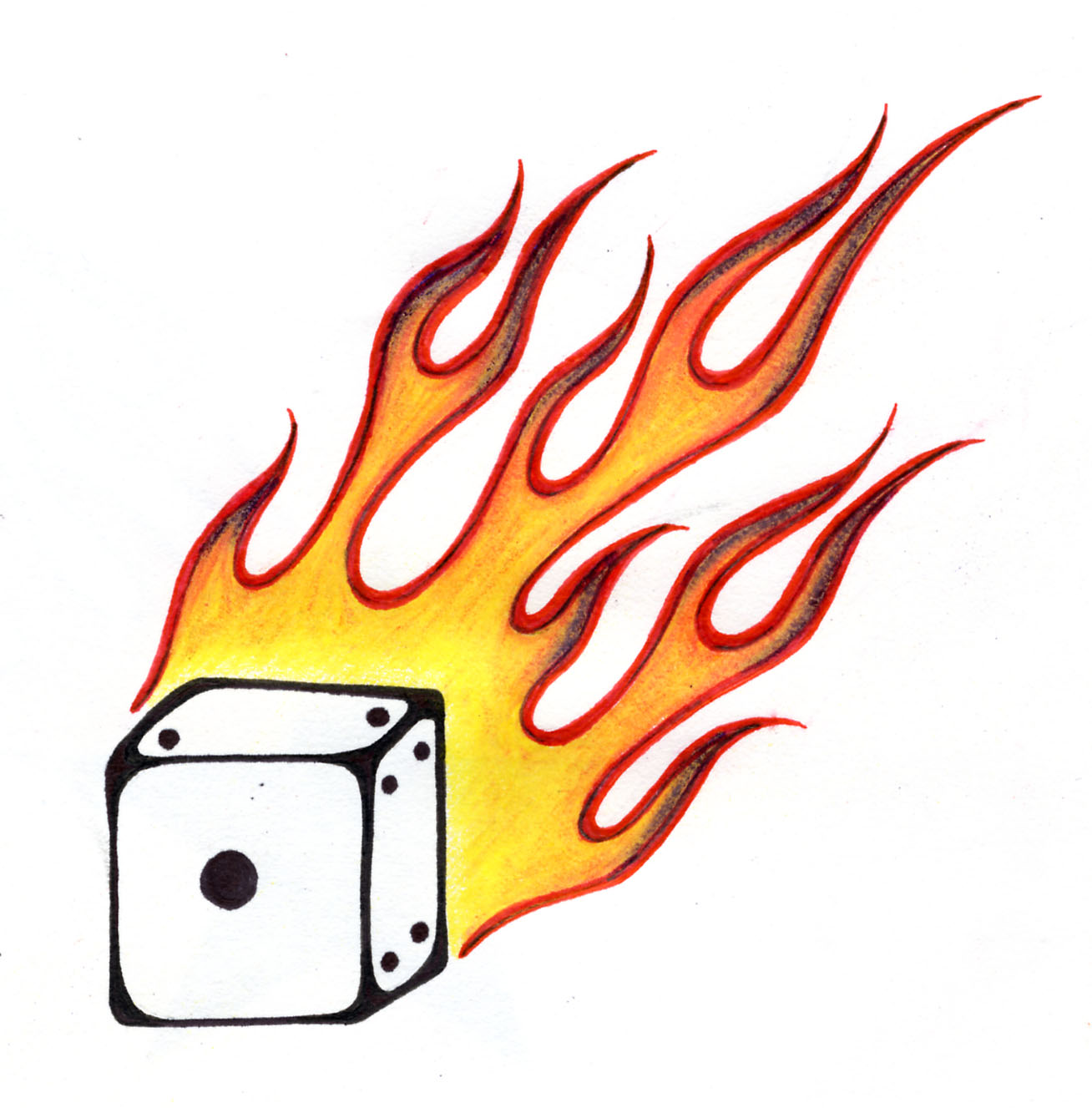 Dice clipart flames Dice (4258) 3 Clipart Free