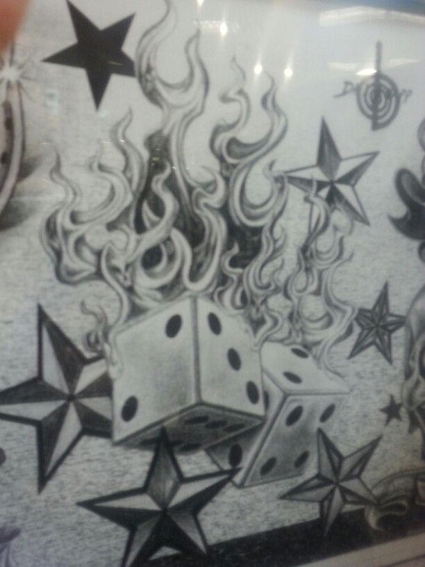 Dice clipart flames Dice on Twisted about tats